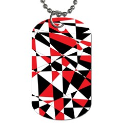 Shattered Life Tricolor Dog Tag (one Sided) by StuffOrSomething