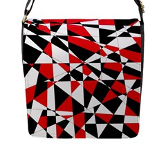 Shattered Life Tricolor Flap Closure Messenger Bag (l) by StuffOrSomething
