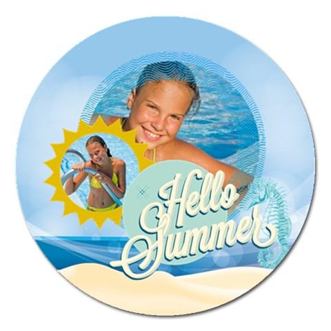 Summer By Summer Time    Magnet 5  (round)   Indj1nlse3kv   Www Artscow Com Front