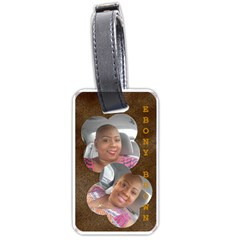 Lt Ebony Brown By Beverly A  Terrell   Luggage Tag (two Sides)   Xlbkot2en1jj   Www Artscow Com Back