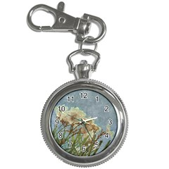 Floral Grunge Vintage Photo Key Chain Watch by dflcprints