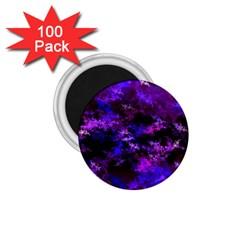 Purple Skulls Goth Storm 1 75  Button Magnet (100 Pack) by KirstenStar