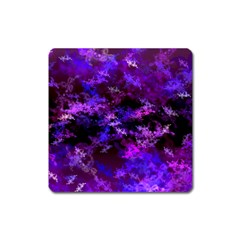 Purple Skulls Goth Storm Magnet (square) by KirstenStar