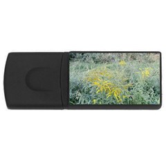 Yellow Flowers, Green Grass Nature Pattern 4gb Usb Flash Drive (rectangle)