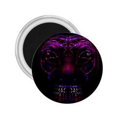 Creepy Cat Mask Portrait Print 2 25  Button Magnet by dflcprints