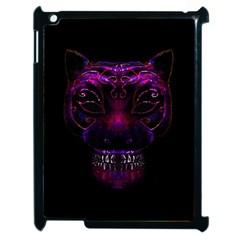 Creepy Cat Mask Portrait Print Apple Ipad 2 Case (black) by dflcprints