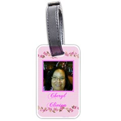 Lt Cheryl C By Beverly A  Terrell   Luggage Tag (two Sides)   Isgog4narwk5   Www Artscow Com Back