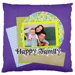 Family By Joely   Large Flano Cushion Case (two Sides)   G02s209i9uk6   Www Artscow Com Front