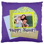 family - Large Flano Cushion Case (One Side)