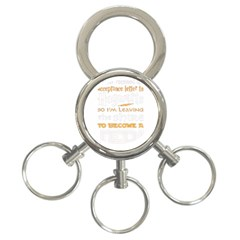 Howarts Letter 3 Ring Key Chain by empyrie