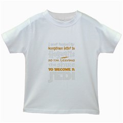 Howarts Letter Kids T Shirt (white) by empyrie