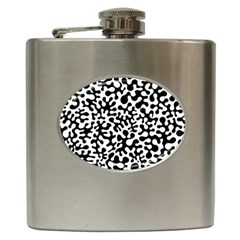 Black and White Blots Hip Flask by KirstenStar