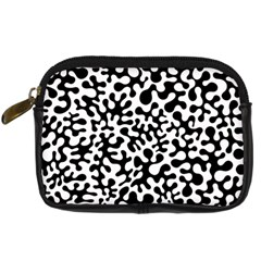 Black And White Blots Digital Camera Leather Case by KirstenStar