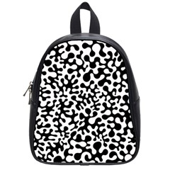 Black And White Blots School Bag (small) by KirstenStar