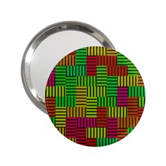 Colorful Stripes And Squares 2 25  Handbag Mirror by LalyLauraFLM