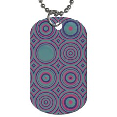 Concentric Circles Pattern Dog Tag (one Side) by LalyLauraFLM
