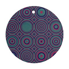 Concentric Circles Pattern Round Ornament (two Sides) by LalyLauraFLM