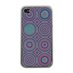 Concentric Circles Pattern Apple Iphone 4 Case (clear) by LalyLauraFLM