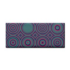 Concentric Circles Pattern Hand Towel by LalyLauraFLM