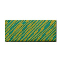 Blue Yellow Waves Hand Towel by LalyLauraFLM