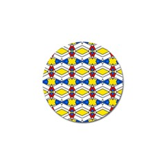 Colorful Rhombus Chains Golf Ball Marker (10 Pack) by LalyLauraFLM