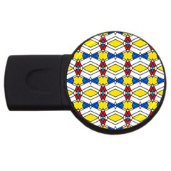 Colorful Rhombus Chains Usb Flash Drive Round (2 Gb) by LalyLauraFLM