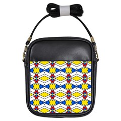 Colorful Rhombus Chains Girls Sling Bag by LalyLauraFLM
