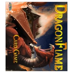 Dragon Flame By Ray Dana   Drawstring Pouch (medium)   3jpq14sszt4f   Www Artscow Com Front