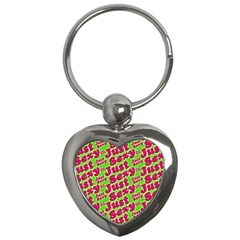 Just Sexy Quote Typographic Pattern Key Chains (heart)  by dflcprints