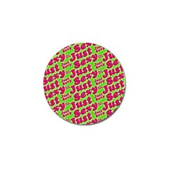 Just Sexy Quote Typographic Pattern Golf Ball Marker by dflcprints