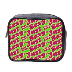 Just Sexy Quote Typographic Pattern Mini Toiletries Bag 2 Side by dflcprints