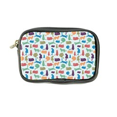 Blue Colorful Cats Silhouettes Pattern Coin Purse by Contest580383