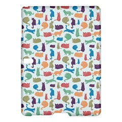 Blue Colorful Cats Silhouettes Pattern Samsung Galaxy Tab S (10 5 ) Hardshell Case  by Contest580383