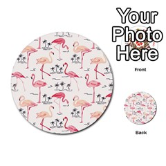 Flamingo Pattern Multi-purpose Cards (Round)  by Contest580383