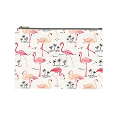 Flamingo Pattern Cosmetic Bag (large)  by Contest580383