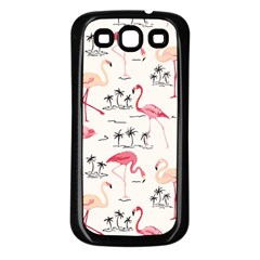 Flamingo Pattern Samsung Galaxy S3 Back Case (black)