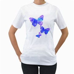 bfly Women s Two-sided T-shirt (White)