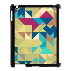 Scattered pieces in retro colors Apple iPad 3/4 Case (Black) by LalyLauraFLM