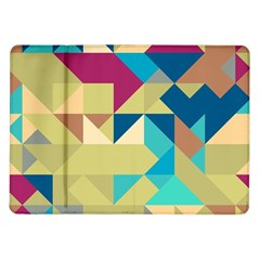 Scattered Pieces In Retro Colors Samsung Galaxy Tab 10 1  P7500 Flip Case by LalyLauraFLM
