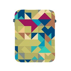 Scattered Pieces In Retro Colors Apple Ipad 2/3/4 Protective Soft Case by LalyLauraFLM