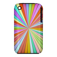 Colorful Beams Apple Iphone 3g/3gs Hardshell Case (pc+silicone) by LalyLauraFLM