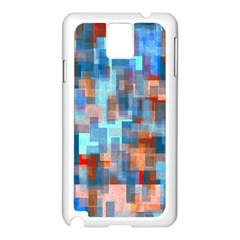 Blue Orange Watercolors Samsung Galaxy Note 3 N9005 Case (white) by LalyLauraFLM