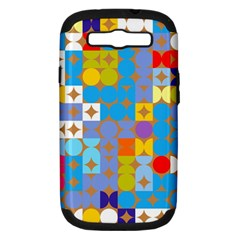 Circles And Rhombus Pattern Samsung Galaxy S Iii Hardshell Case (pc+silicone)