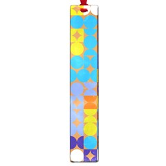 Circles And Rhombus Pattern Large Book Mark by LalyLauraFLM