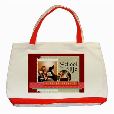 School By School   Classic Tote Bag (red)   988czk1nod4h   Www Artscow Com Front