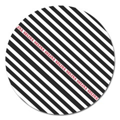 Selina Zebra Magnet 5  (Round) by Contest580383