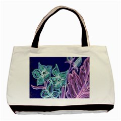 Purple, Pink Aqua Flower Style Basic Tote Bag  by Contest1918526