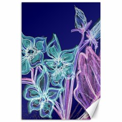 Purple, Pink Aqua Flower Style Canvas 24  X 36  by Contest1918526