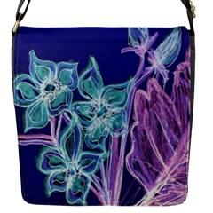 Purple, Pink Aqua Flower Style Flap Messenger Bag (s) by Contest1918526