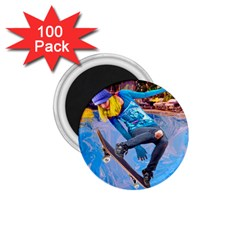 Skateboarding On Water 1 75  Magnets (100 Pack)  by icarusismartdesigns